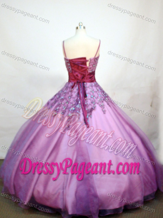 Purple Appliqued 2013 Magnificent Winter Pageant Dresses for Girls under 150