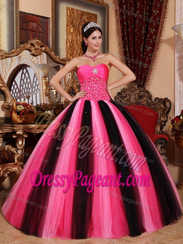 Multi-colored Ball Gown Sweetheart Tulle Prom Pageant Dresses