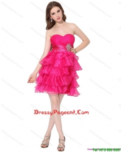 2015 Luxurious Pageant Dresses with Ruffled Layers and Beading