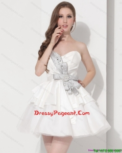 Luxurious Sweetheart Ball Gown Prom Dress in White