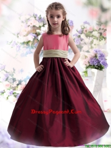 Perfect Multi Color Ruffled 2015 Beautiful Little Girl Dress with Sash