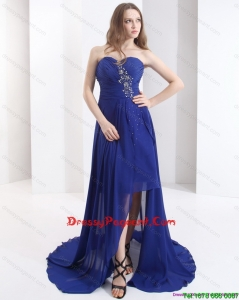 2015 Sweetheart Sexy Pageant Dress with Beading and Brush Train