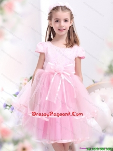 Cheap Bowknot and Appliques Little Girl Dresses for 2015