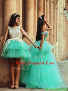 Fashionable Off the Shoulder Prom Dress with Lace and Appliques