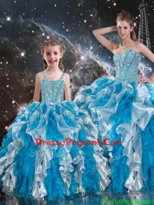2016 Luxurious Ball Gown Sweetheart Multi Color Pageant Dresses For Sisters