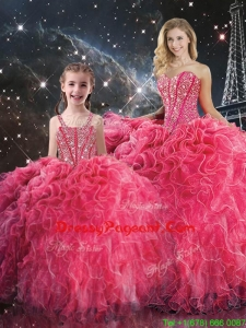 2016 Pretty Ball Gown Sweetheart Pageant Dresses For Sisters with Beading