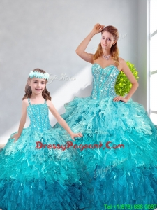 Beautiful Ball Gown Sweetheart Pageant Dresses For Sisters in Multi Color
