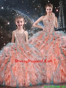 Gorgeous Ball Gown Pageant Dresses For Sisters with Beading and Ruffles for Fall