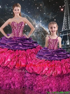 Gorgeous Sweetheart Pageant Dresses For Sisters with Ruffles and Pick Ups