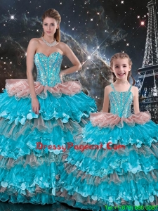 Wonderful Ball Gown Ruffled Layers Pageant Dresses For Sisters for 2016