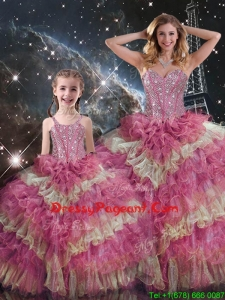 Wonderful Sweetheart Ruffled Layers Pageant Dresses For Sisters for Fall