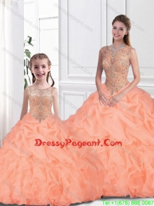 Inexpensive Scoop Pageant Dresses For Sisters with Beading for Fall