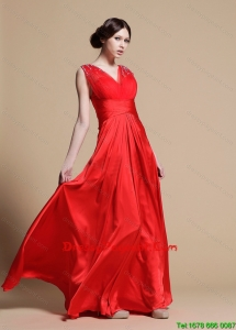 Discount Empire V Neck Pageant Dresses with Beading