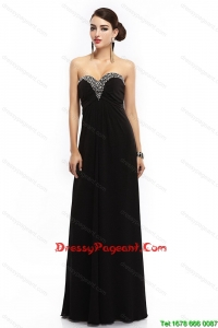 New Style Sweetheart Beaded Black Pageant Dresses with Lace Up