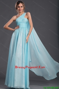 2016 Wonderful Light Blue Fashionable Pageant Dresses with Watteau Train