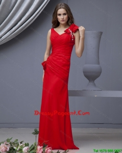 2016 Elegant Red Pageant Dresses with Beading and Bowknots