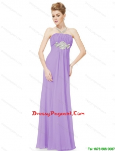 2016 Empire Strapless Beaded Pageant Dresses in Lavender
