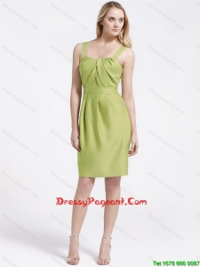 Most Popular Short Olive Green Perfect Pageant Dresses with Belt