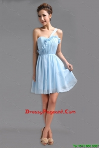 Perfect One Shoulder Ruching Short Pageant Gowns for Holiday
