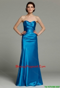Beautiful Column Sweetheart Teal Pageant Dresses with Zipper Up