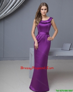 Beautiful Column Scoop Sexy Pageant Gowns with Floor Length