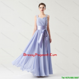 Hot Sale Straps Pageant Gowns with Bowknot and Beading