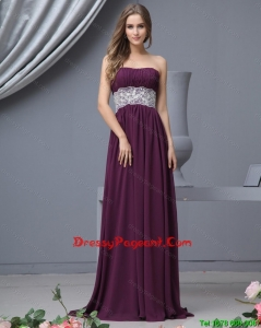 Top Strapless Laced Pageant Dresses with Brush Train