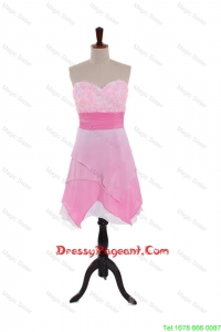 2016 Spring Empire Sweetheart Pageant Dresses with Hand Made Flowers