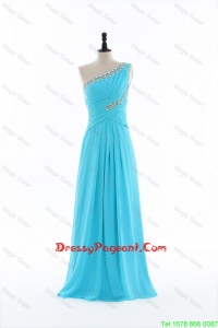 Brand New 2016 Beading and Ruching Aqua Blue Pageant Dresses