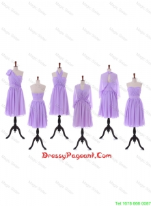 2016 Custom Made Empire Prom Dresses with Ruching in Lavender
