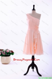 Custom Made Empire Asymmetrical Pageant Dresses with Ruching