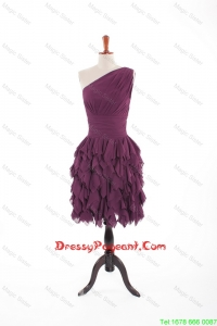Inexpensive Burgundy Short Pageant Dresses with Belt and Ruching