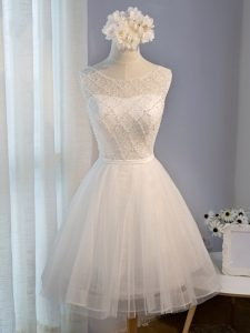 Great Scoop Sleeveless Tulle Pageant Dress for Womens Beading Lace Up