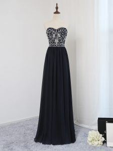 Glorious Sweetheart Sleeveless Chiffon Evening Gowns Beading Zipper