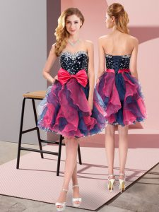 Mini Length A-line Sleeveless Multi-color Glitz Pageant Dress Lace Up
