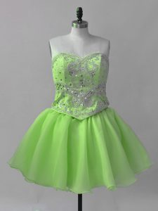 Sweetheart Sleeveless Lace Up Pageant Dress Toddler Organza