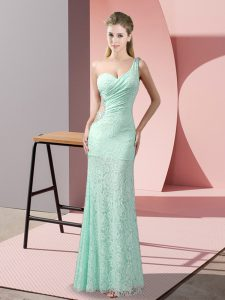 Modern Floor Length Column/Sheath Sleeveless Apple Green Pageant Dress for Womens Criss Cross