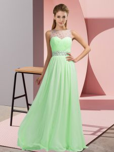 Adorable Scoop Backless Beading Pageant Dress Wholesale Sleeveless