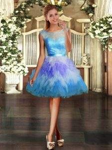 Hot Sale Sleeveless Lace and Ruffles Backless Pageant Dress