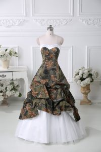Sophisticated Multi-color Lace Up Sweetheart Pick Ups Pageant Dress Taffeta Sleeveless Court Train