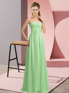 New Arrival Sweetheart Sleeveless Chiffon Pageant Dress for Girls Beading Lace Up