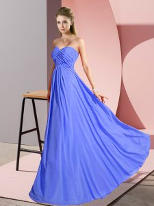 Customized Sleeveless Lace Up Floor Length Ruching Pageant Gowns
