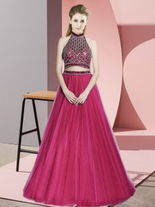 Tulle Sleeveless Pageant Dresses and Beading