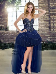 Sweetheart Sleeveless Tulle Pageant Dress for Teens Beading and Ruffled Layers Lace Up