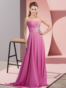 Sophisticated Sleeveless Lace Up Beading Pageant Dress for Girls