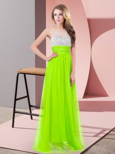 Fashion Sleeveless Floor Length Sequins Side Zipper Pageant Dress for Teens