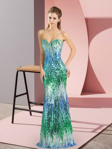 Fine Floor Length Multi-color Pageant Gowns Sweetheart Sleeveless Lace Up