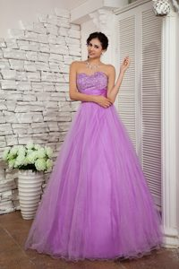 Cheap Sweetheart Organza Miss Mississippi Pageant Dress in Lavender