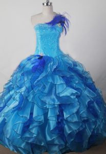 Surprising Beading and Ruffles Decorated Girl Pageant Dresses in Organza