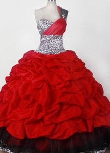 Wholesale One Shoulder Beauty Pageants Dresses in Taffeta and Leopard